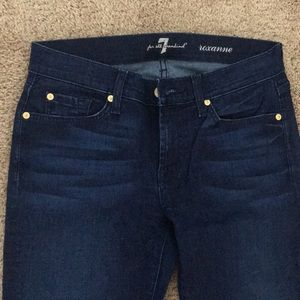 """7 for all man kind"" dark blue jeans, size 28,New!"